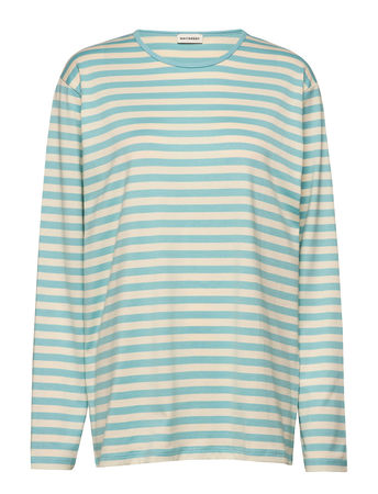 Marimekko PitkÄHiha Langärmliges T-Shirt Blau  tuerkis