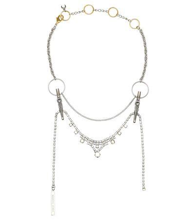Marine Serre Verzierte Halskette grau