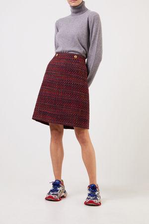 Nusco  2107 - Woll-Tweed Rock Rot/Marineblau