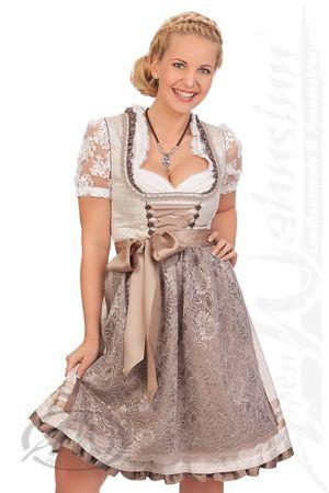 Marjo  Midi Dirndl 2tlg. - ROSINA, Silber, 34 braun