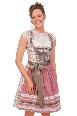 Marjo  Mini Dirndl 2tlg. - NATALIA, Altrosa, 44 rot