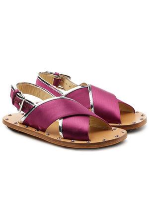 Marni  Sandalen mit gekreuzten Fußriemen pink