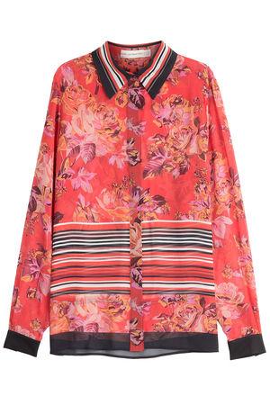 Mary Katrantzou  Print-Bluse aus Seide rot