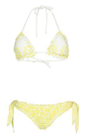 Marybloom Floral Padded Triangel Bikini Gelb