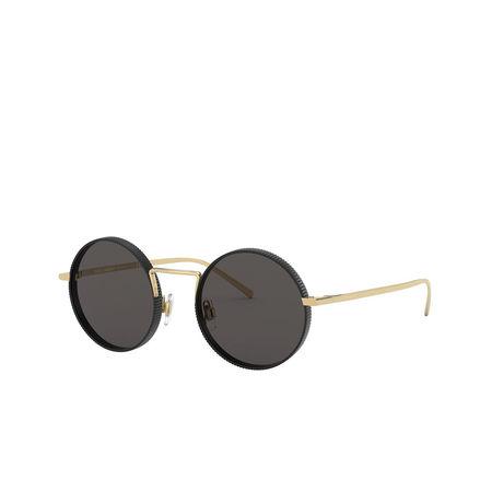 Dolce&Gabbana  Sonnenbrille  -  0DG2246 Gold/Matte Black  - in schwarz  -  Sonnenbrille für Damen grau