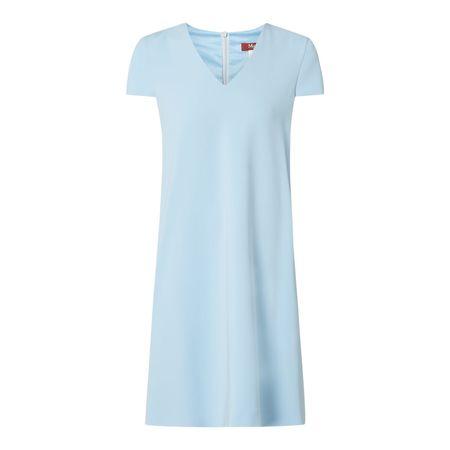 Max Mara Kleid mit Kappärmeln Modell 'Rienza' blau