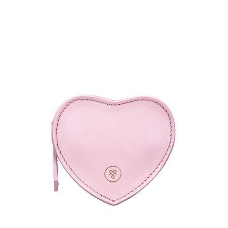 Maxwell Scott Bags Herzförmige Geldbörse in rosa Nappaleder - Brieftasche, Portemonnaie, Geldbeutel, Kreditkartenetui rosa