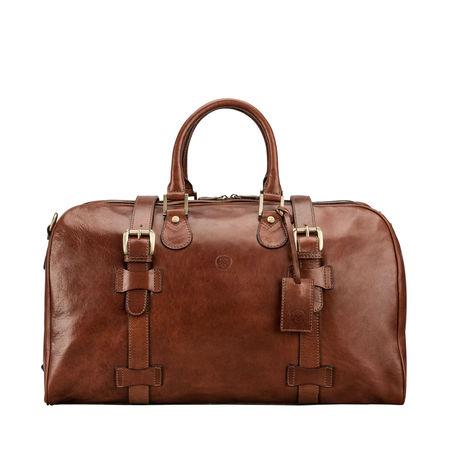 Maxwell Scott Bags Leder Handgepäck Reisetasche in Braun - Weekender, Handgepäck, Sporttasche braun