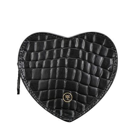 Maxwell Scott Bags Leder Handtaschen Organiser in Croco - Schultertasche, Umhängetasche, Shopper, Henkeltasche schwarz