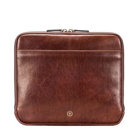 Maxwell Scott Bags Leder iPad Tablet Hülle in Braun braun