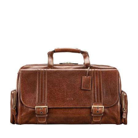 Maxwell Scott Bags Leder Weekender Reisetasche in Cognac Braun - Reisekoffer, Reisetasche, Handgepäck, Sporttasche braun