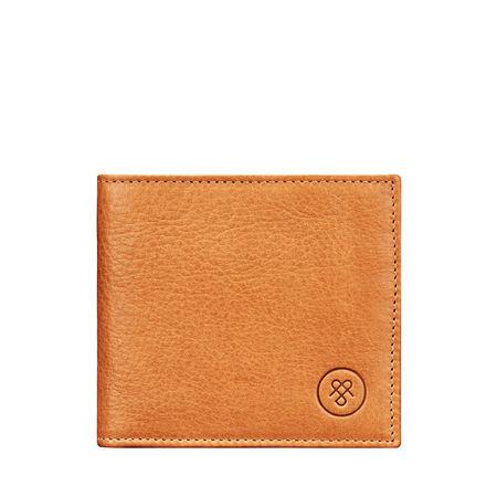 Maxwell Scott Bags Maxwell-Scott Herren Leder Geldbeutel in Camel - Weiches Leder - Brieftasche, Portemonnaie, Geldbörse, Kreditkartenetui orange