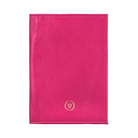 Maxwell Scott Bags Pinke Leder Passhülle pink