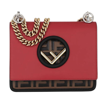 Fendi  Umhängetasche  -  Kan I F Crossbody Bag Strawberry/May  - in rot  -  Umhängetasche für Damen rot