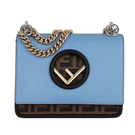 Fendi  Umhängetasche  -  Kan I F Crossbody Bag nebula/maya  - in blau  -  Umhängetasche für Damen blau