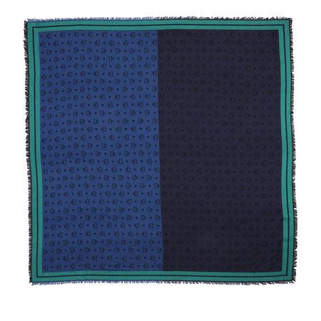 MCM  Accessoire  -  Monogram Jacquard Border Shawl Deep Blue Sea  - in blau  -  Accessoire für Damen blau
