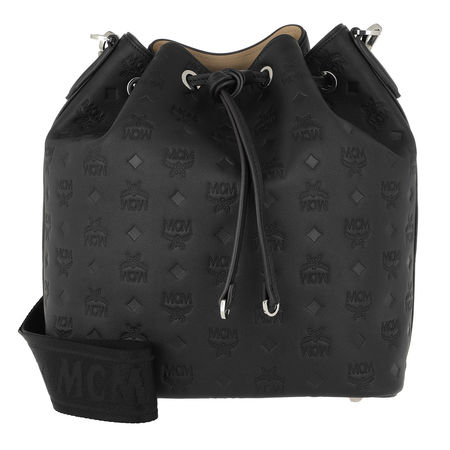 MCM  Beuteltasche  -  Essential Monogrammed Leather Drawstring Medium Black  - in schwarz  -  Beuteltasche für Damen schwarz