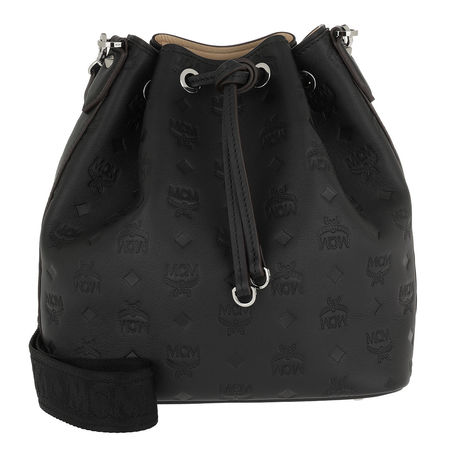 MCM  Beuteltasche  -  Essential Monogrammed Leather Drawstring Small Black  - in schwarz  -  Beuteltasche für Damen schwarz