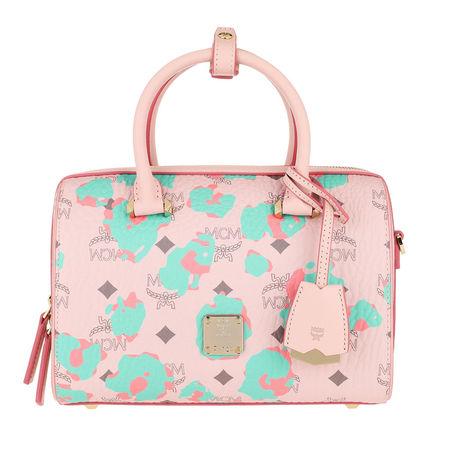 MCM  Bowling Bag  -  Essential Floral Leopard Boston Bag Powder Pink  - in rosa  -  Bowling Bag für Damen rot