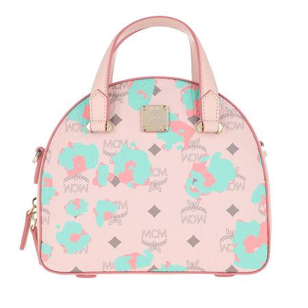 MCM  Bowling Bag  -  Essential Floral Leopard Tote Bag Small Powder Pink  - in rosa  -  Bowling Bag für Damen beige