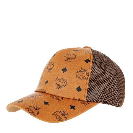 MCM  Caps  -  Visetos Mesh Cap Cognac  - in cognac  -  Caps für Damen orange