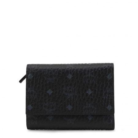 MCM Dreifach gefaltete Brieftasche Visetos Schwarz schwarz