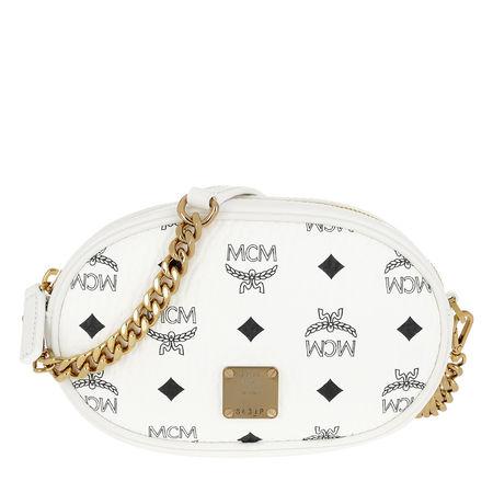 MCM  Gürteltasche  -  Essential Visetos Original Belt Bag Small White  - in weiß  -  Gürteltasche für Damen weiss