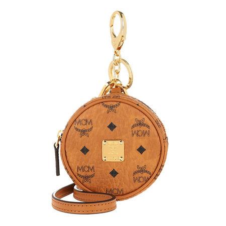 MCM  Keychain  -  Charm Tambour Bag Airpod Case Cognac  - in cognac  -  Keychain für Damen orange