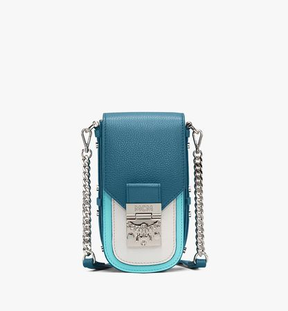 MCM Patricia Crossbody in Color Block Leather weiss