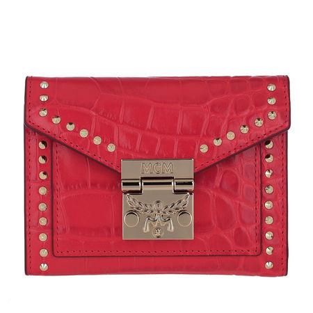 MCM  Portemonnaie  -  Croco Wallet Ruby Red  - in rot  -  Portemonnaie für Damen rot