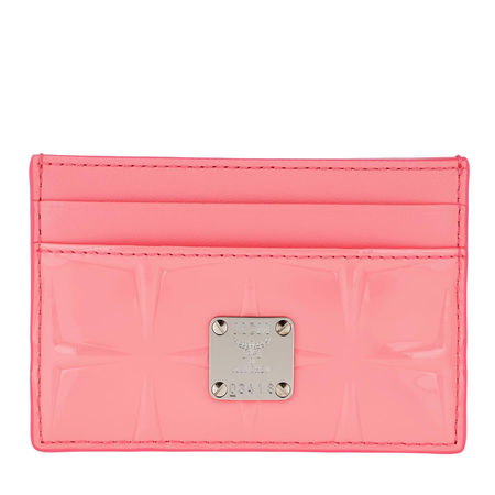 MCM  Portemonnaie  -  Diamond Patent Card Holder Salmon Rose  - in rosa  -  Portemonnaie für Damen rot