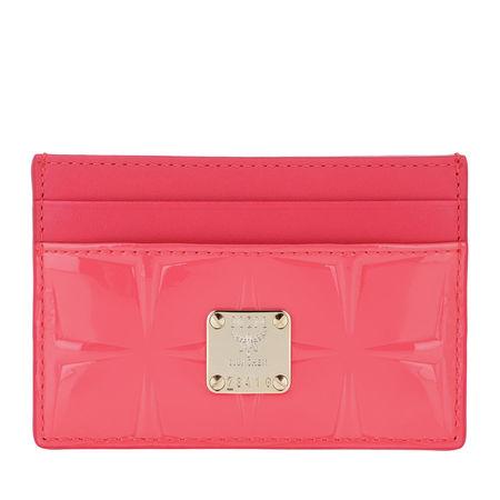 MCM  Portemonnaie  -  Diamond Patent Card Holder Tea Berry  - in pink  -  Portemonnaie für Damen rot