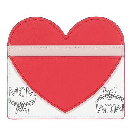 MCM  Portemonnaie - Visetos Leather Mix - in rot - für Damen rot
