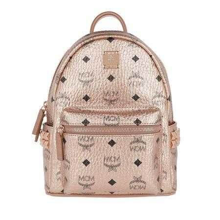 MCM  Rucksack  -  Stark Backpack Mini Champagne Gold  - in rosa  -  Rucksack für Damen braun