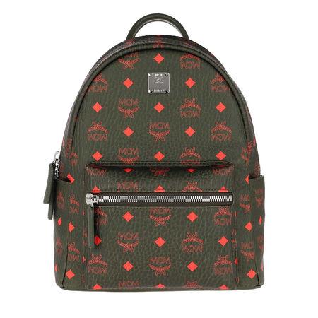MCM  Rucksack  -  Stark Backpack Winter Moss  - in grün  -  Rucksack für Damen grau