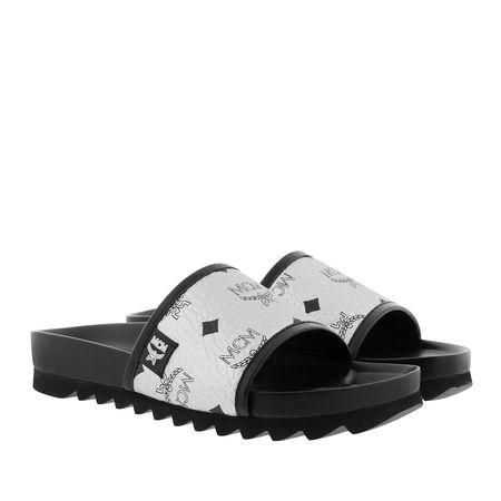 MCM  Schuhe  -  W Visetos Slide Silver  - in silber  -  Schuhe für Damen schwarz