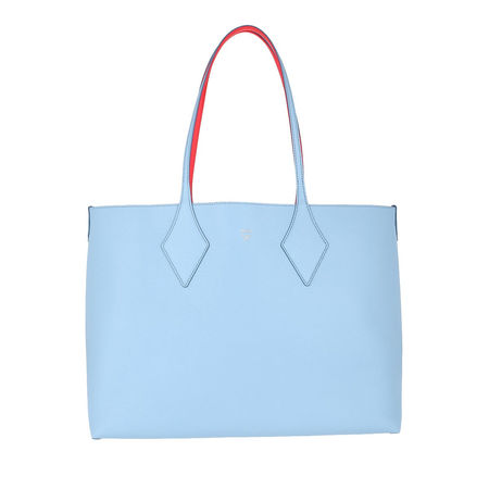 MCM  Tote  -  Leather Reversible Shopping Bag Medium Blue Bell  - in blau  -  Tote für Damen blau