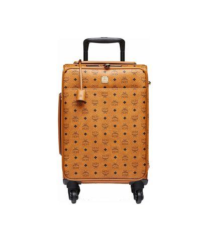 MCM Traveler Kabinentrolley in Visetos orange