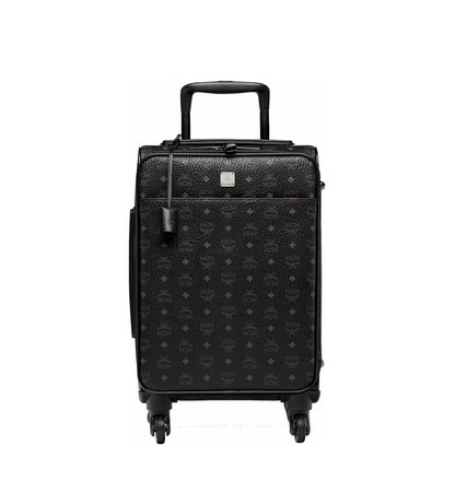 MCM Traveler Kabinentrolley in Visetos schwarz