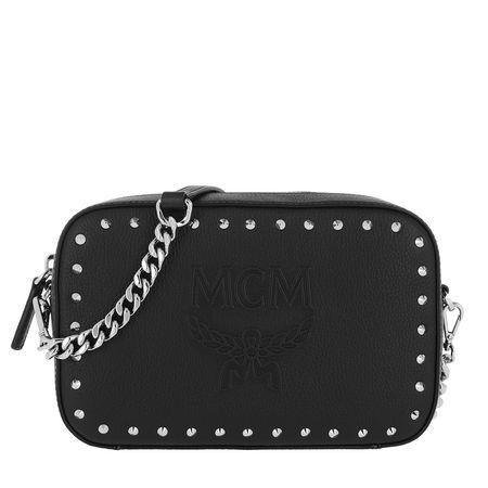 MCM  Umhängetasche  -  Chanswell Studded Park Avenue Camera Bag Black  - in schwarz  -  Umhängetasche für Damen schwarz