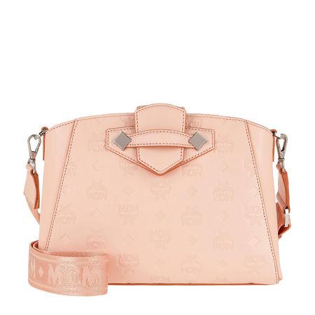 MCM  Umhängetasche  -  Essential Leather Crossbody Small Bisque  - in beige  -  Umhängetasche für Damen orange