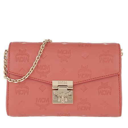 MCM  Umhängetasche  -  Millie Monogrammed Leather Crossbody Small Cocoa  - in rot  -  Umhängetasche für Damen rot