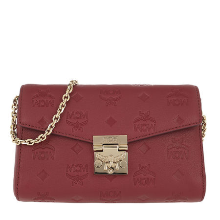 MCM  Umhängetasche  -  Millie Monogrammed Leather Crossbody Small Ruby Tan  - in rot  -  Umhängetasche für Damen braun