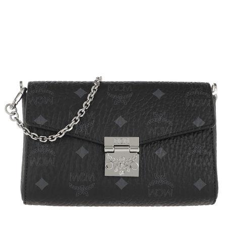 MCM  Umhängetasche  -  Millie Visetos Crossbody Small Black  - in schwarz  -  Umhängetasche für Damen grau