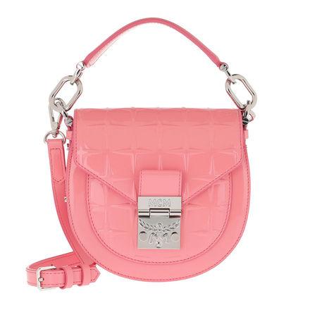 MCM  Umhängetasche  -  Patricia Diamond Patend Shoulder Bag Mini Salmon Rose  - in rosa  -  Umhängetasche für Damen rot