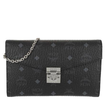 MCM  Umhängetasche  -  Patricia Visetos Continental Crossbody Wallet Large Black  - in schwarz  -  Umhängetasche für Damen grau