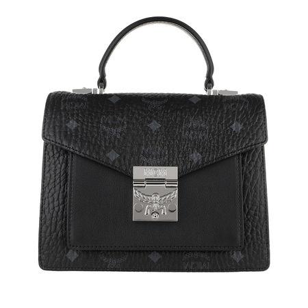 MCM  Umhängetasche  -  Patricia Visetos Satchel Small Black  - in schwarz  -  Umhängetasche für Damen schwarz