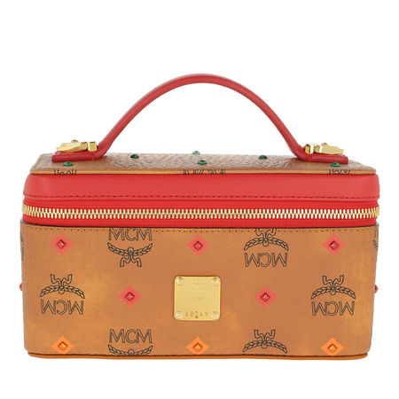 MCM  Umhängetasche  -  Spektrum Stud Visetos Cosmetic Case Mini Cognac Spektrum  - in cognac  -  Umhängetasche für Damen orange