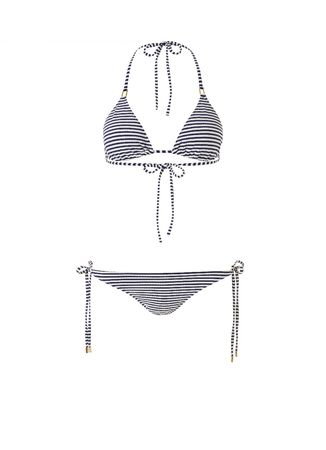 Melissa Odabash Cancun Padded Triangel Bikini Nautical Blau