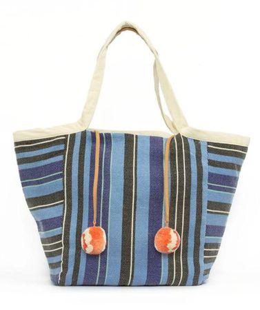 Mercado Global Rosa Tasche mit Streifen in blau weiss